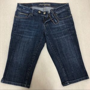 American Eagle Knee Length Jean Shorts